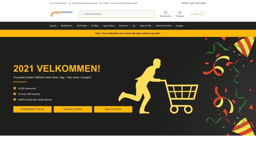 Prispresseren.dk webshop reference